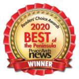 Winner medallion for Peace Arch News